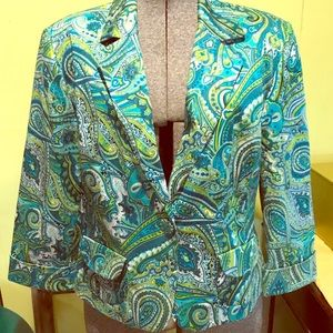 Aqua blue(s) blazer, fully lined
